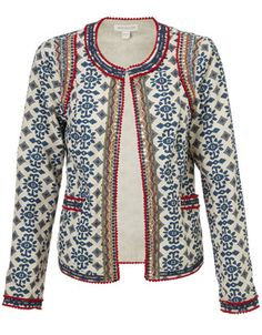 Great printed jacket to be worn over a beautiful and simple black dress