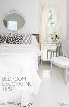 Use these helpful decorating tips to create the bedroom of your dreams