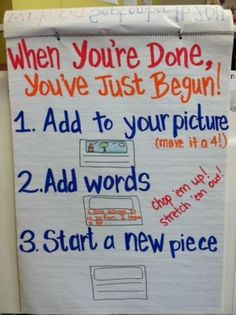 Writing Anchor Chart by olive