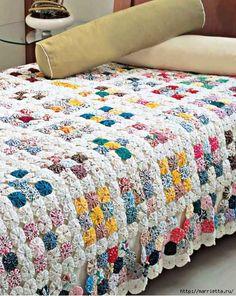 Цветочки ЙО-ЙО для покрывала и подушки (1) (531x666, 316Kb)