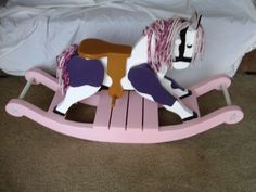 Wooden Rocking Horse       hand crafted