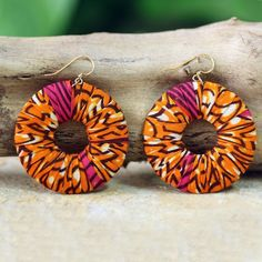 NOVICA Artisan Crafted Cotton on Wood Earrings African Jewelry ($20) ❤ liked on Polyvore featuring jewelry, earrings, brass, dangle, african earrings, hook earrings, african jewellery, wood earrings and novica earrings