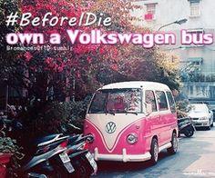 own a volkswagen bus.