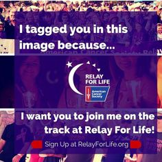 Want to get your friends involved with Relay but you're not quite sure how to bring it up? Share this photo and tag them in it! Great way to get the ball rolling Life Quotes, Life Sayings, Relay For Life, One Night Stands, Breast Cancer Awareness, 4 Life, Helping Others, Peace And Love, Fundraising