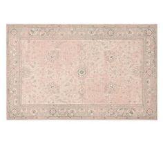 Monique Lhuillier Antique Rug, Blush Pink, 8x10'