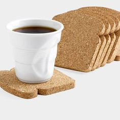 Protect Your Tables From The Moisture That Is Created From The Condensation On Cups And Containers With These Adorable Coasters Shaped In The Form Of Slices Of Bread.