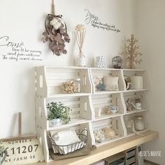 Daiso, Cozy House, Declutter, Bookcase, Shabby, Room Decor, Shelves, Interior Design, Storage