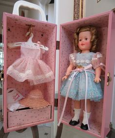 """Vintage 1950s Ideal Shirley Temple 12"""" Doll/Trunk/Extras - EXCELLENT!"""