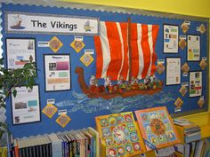 The Vikings classroom display  - Could be done for other topics too...I like to look of it...
