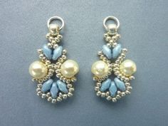 FREE beading pattern for Lotus Lace Earrings ~ Seed Bead Tutorials