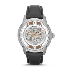 Fossil Townsman Automatic #Leather #Watch #Black