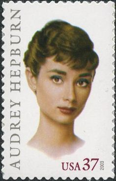 Audrey Hepburn, US commemorative postage stamp, 2003