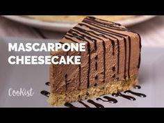 Mascarpone cheesecake: a no bake dessert to try! Tiramisu Recipe With Cream Cheese, Mascarpone Recipes, Mascarpone Cheese, Cream Cheese Recipes, Sweets Recipes, No Bake Desserts, Cookie Crust, Chocolate Syrup, Keto Cheesecake
