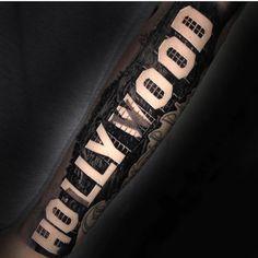 "Bloody brilliant ink work.  🖤🖤🖤  Inked Magazine (@inkedmag) on Instagram: ""#hollywood by @nikkohurtado done on @amberrose #inkedmag #inked #tattoo #tattoos #art #freshlyinked"""
