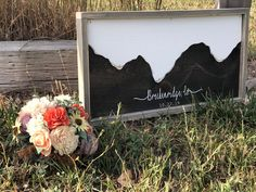 Excited to share this item from my #etsy shop: Wedding Guest Book Alternative - Rustic Custom Mountain Wood Sign - Wedding Guestbook Gift for Bride and Groom - Wedding Sign #weddings #wedding #rustic #personalizedwedding #woodguestbook #alternative