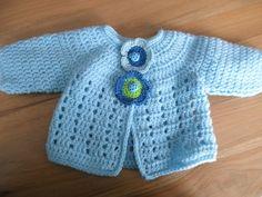 Crochet Baby Sweater Pattern, Baby Sweater Patterns, Crochet Shawl, Baby Patterns, Knit Patterns, Knit Crochet, Loom Knitting, Baby Knitting, Knitting Increase