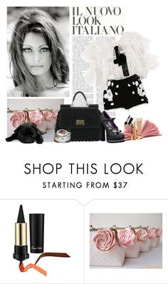 """""""Sans titre #594"""" by scapin ❤ liked on Polyvore featuring Dolce&Gabbana, Guerlain, Yves Saint Laurent and Prada"""