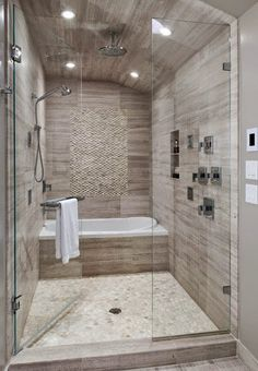 small bathroom with tub.small bathroom with tub remodel.small bathroom with tub shower.small bathroom with tub layout.small bathroom with tub and shower.small bathroom with tub and walk in shower.small bathroom with tub design. Bathroom Tub Shower, Bathroom Renos, Bathroom Interior, Bathroom Remodeling, Remodeling Ideas, Master Shower, Bath Tubs, Bathroom Layout, Vanity Bathroom