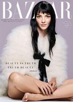 Mariacarla Boscono for Harper's Bazaar UK October 2016 issue cover