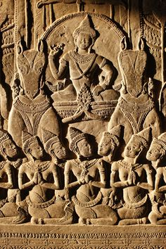 Angkor Wat, Carved Detail on Wall Khmer Tattoo, Laos Vietnam, Cambodian Art, Angkor Wat Cambodia, Thai Art, Buddhist Art, Ancient Architecture, Ancient Civilizations, Stone Carving