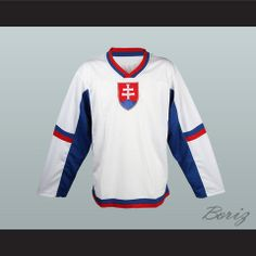Slovakia National Team Hockey Jersey Any Player or Number New International Teams, Sports Equipment, Cheerleading, Hockey, Winter Games, Number, 6 Inches, Loose Fit, Larger