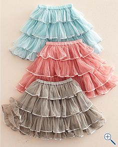 layered tulle skirts for flowergirl