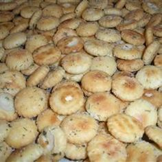 Oyster crackers with ranch dressing & dill. This crunchy baked seasoned cracker dish can be used as a side dish, a dressing or a stuffing.