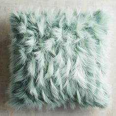 Fabulously fluffy, our faux fur pillow is as cozy as it is fashionable, boasting plenty of texture in a pretty blue hue. Plus, it's priced just right, so you won't even bat an eye at buying more than one. Fluffy Cushions, Fluffy Bedding, Blue Bedding, White Pillows, Diy Pillows, Decorative Throw Pillows, Teal Pillows, Accent Pillows, Eyelash Pillow