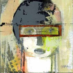 Noma and Jim Bliss Abstract Portrait, Portrait Art, Abstract Art, Outsider Art, Triptych, Portraits, Face Art, Figure Painting, Figurative Art