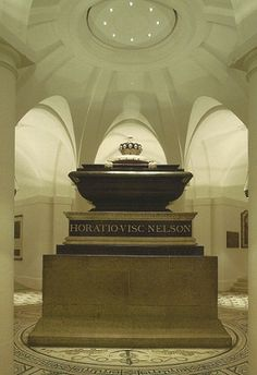 Lord Nelson's Tomb in St. Paul's Cathedral - London.