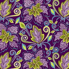 Cotton Quilt Fabric Zen Garden Large Floral Grape Juice Purple