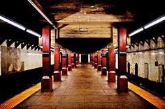new york subway station bowery New York Subway, Nyc Subway, Go Transit, S Bahn, City Maps, Buses, New York City, Train, Colour