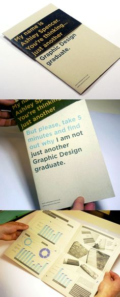 An Environmentally sustainable résumé which cleverly hooks the reader in to read more...