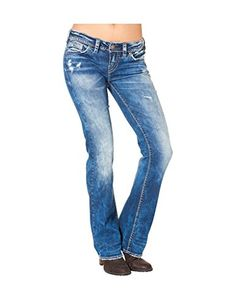 0ba1b64352b Silver Jeans Co. Women s Silver Jeans Co. Aiko Super Stretch Bootcut Jeans  Medium Sandblast -- Check out this great article.