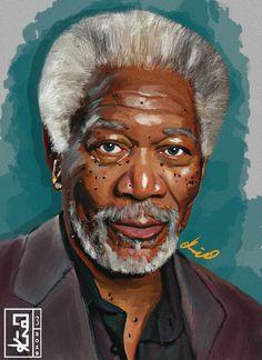 "Digital Art ""Morgan freeman"" on Behance Gate Images, African Art Paintings, Black Love Art, Morgan Freeman, Black History Facts, Actrices Hollywood, Cartoon Faces, Hollywood Actor, Interesting Faces"