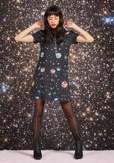 JANTEX INTERNATIONAL LIMITED Planetarium Parade Babydoll Dress