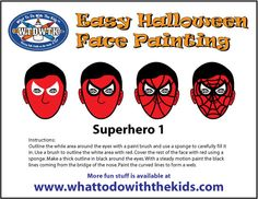 Simple face painting design for your little trick or treater.  #WTDWTK  #Halloween  #Facepainting