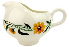 Ceramic Creamer w/ Yellow Flowers