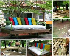 Image of: wooden pallet garden furniture furniture ideas how to make pallet patio furniture diy Pallet Furniture Tutorial, Pallet Garden Furniture, Furniture Projects, Diy Furniture, Garden Pallet, Diy Projects, Garden Benches, Outdoor Furniture, Furniture Design