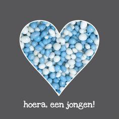Hart blauwe muisjes - Felicitatiekaarten - Kaartje2go
