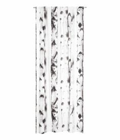 tree print, simple pattern, Cotton canvas curtain with printed photo design. Height 250 in., width 47 in, washable. black and white. Curtain Patterns, Tree Patterns, Cool Patterns, Pattern Curtains, Canvas Curtains, Woodland Theme Bedroom, H&m Home, Bedroom Themes, Shopping