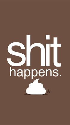Shit happens. Just get over it. Motivational quotes iPhone Wallpapers | @mobile9