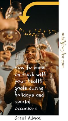 Our health goals are often put on hold when there are holidays and special occasions. There are so many temptations in the way of food and drink. Read how you can keep on track with your health goals during holidays and special occasions Health Goals, Health Tips, Fitness Tips, Health Fitness, Keep On, Getting Drunk, Social Events, Self Improvement, How To Stay Healthy