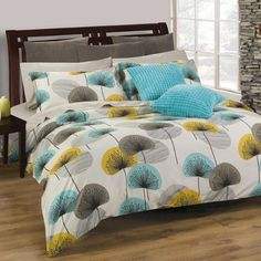 Modern Duvet Covers – When you need a great bed cover design for your huge or small bed, please try this modern duvet covers, at least it still had great look than ordinary bed covers. Modern Duvet Covers, Bed Duvet Covers, Comforter Sets, Duvet Cover Sets, Modern Bedding, Luxury Bedding, Blue And Yellow Bedding, Blue Bedding, Decorating Bedrooms