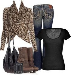 """""""Casual Leopard"""" by melindatg ❤ liked on Polyvore"""