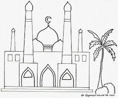 Sketsa mesjid Preschool Coloring Pages, Colouring Pages, Coloring Pages For Kids, Coloring Books, Ramadan Activities, Ramadan Crafts, Ramadan Decorations, Coloring Pictures For Kids, Islam For Kids