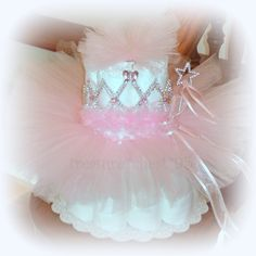 Pink Princess Tutu Diaper Cake Baby Shower Centerpiece Decorations Gift.
