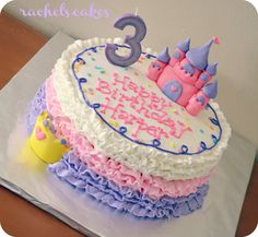 buttercream ruffle princess cake