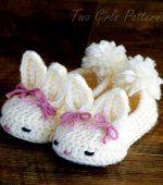 free cute kitty crochet pattern | Crochet Pattern Baby Booties Bunny House Slippers PDF Pattern ...