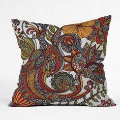DENY Designs Valentina Ramos Paradise Bird Throw Pillow 16 x 16